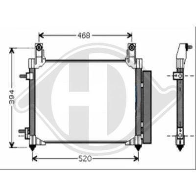 Condenseur, climatisation - Diederichs Germany - 8693100