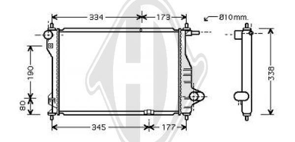 Radiateur, refroidissement du moteur - HDK-Germany - 77HDK8693105