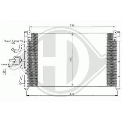 Condenseur, climatisation - Diederichs Germany - 8694000