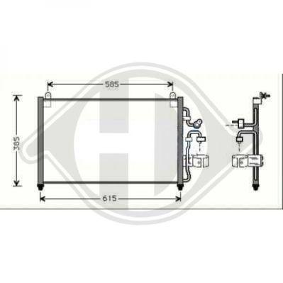 Condenseur, climatisation - Diederichs Germany - 8695000