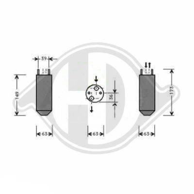 Filtre déshydratant, climatisation - HDK-Germany - 77HDK8695001