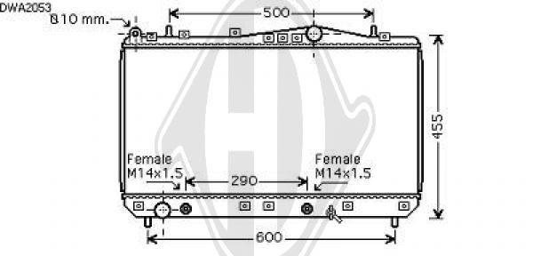 Radiateur, refroidissement du moteur - Diederichs Germany - 8695006