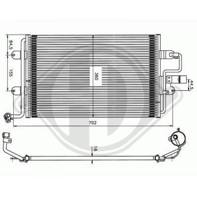 Condenseur, climatisation - Diederichs Germany - 8701111
