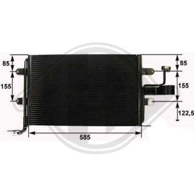 Condenseur, climatisation - Diederichs Germany - 8701112