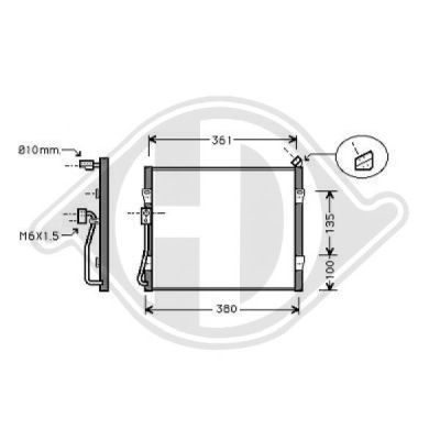 Condenseur, climatisation - HDK-Germany - 77HDK8701900
