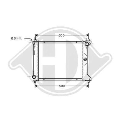 Radiateur, refroidissement du moteur - HDK-Germany - 77HDK8701905