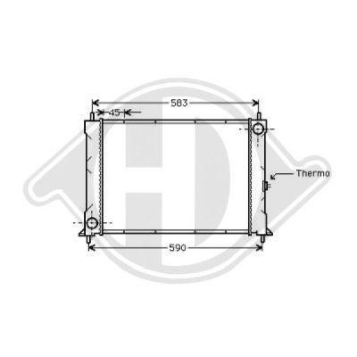 Radiateur, refroidissement du moteur - HDK-Germany - 77HDK8701906