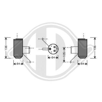Filtre déshydratant, climatisation - HDK-Germany - 77HDK8702102