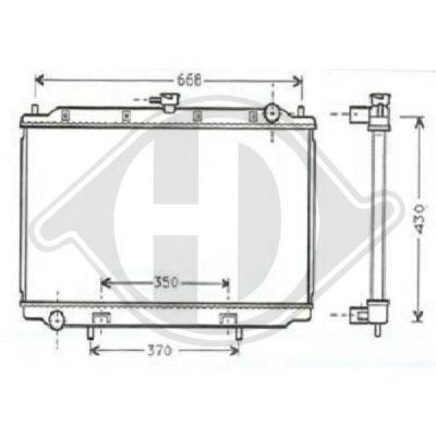 Radiateur, refroidissement du moteur - Diederichs Germany - 8702181