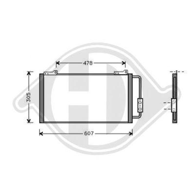 Condenseur, climatisation - Diederichs Germany - 8703000