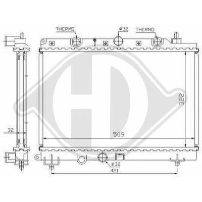 Radiateur, refroidissement du moteur - Diederichs Germany - 8703003