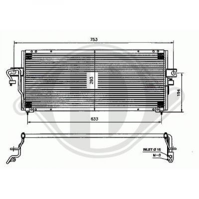 Condenseur, climatisation - Diederichs Germany - 8724111