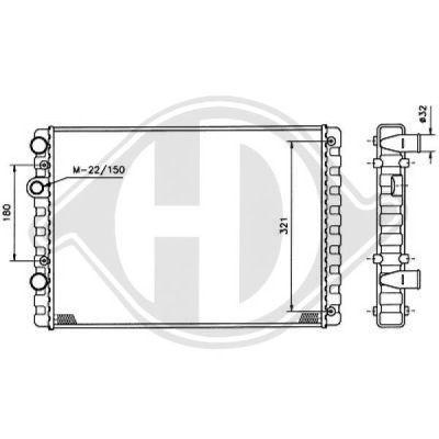 Radiateur, refroidissement du moteur - Diederichs Germany - 8730954