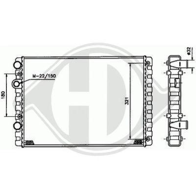 Condenseur, climatisation - Diederichs Germany - 8742200