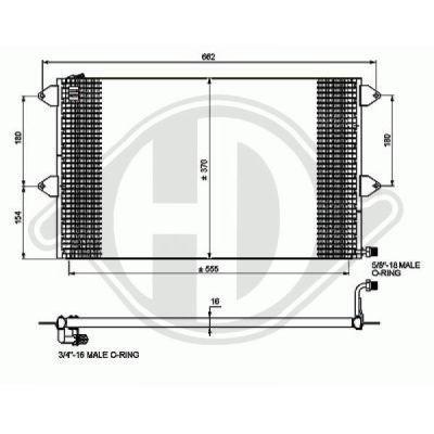 Radiateur, refroidissement du moteur - HDK-Germany - 77HDK8742205