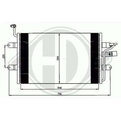 Condenseur, climatisation - HDK-Germany - 77HDK8742400