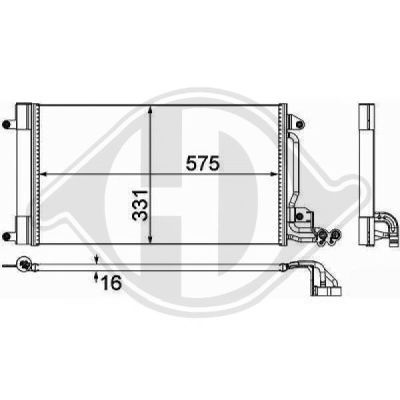 Condenseur, climatisation - HDK-Germany - 77HDK8742600