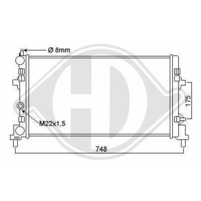 Radiateur, refroidissement du moteur - Diederichs Germany - 8742605
