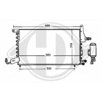 Condenseur, climatisation - Diederichs Germany - 8743000