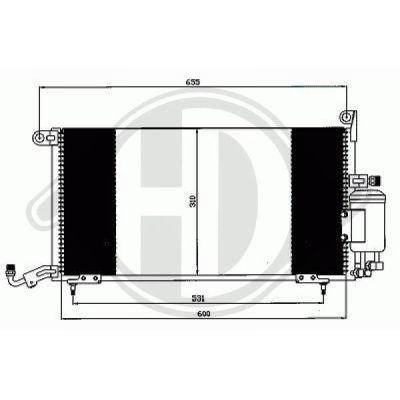Condenseur, climatisation - Diederichs Germany - 8743001