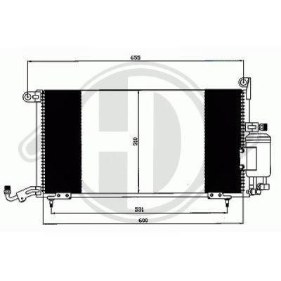 Condenseur, climatisation - Diederichs Germany - 8743005