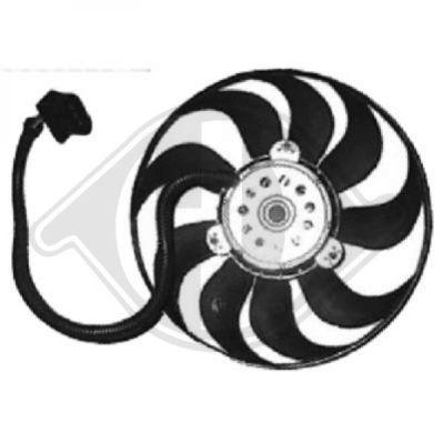 Ventilateur, refroidissement du moteur - Diederichs Germany - 8743201