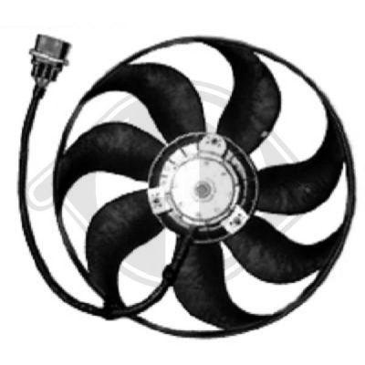 Ventilateur, refroidissement du moteur - Diederichs Germany - 8743202