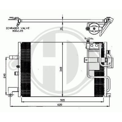 Condenseur, climatisation - Diederichs Germany - 8751300