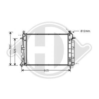 Radiateur, refroidissement du moteur - Diederichs Germany - 8751305