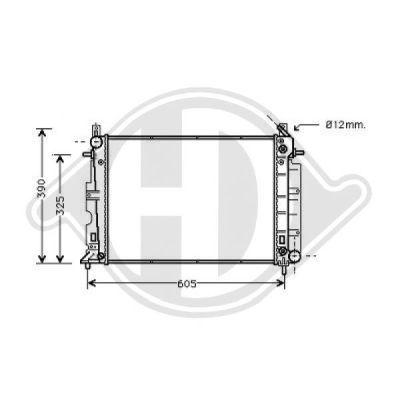 Radiateur, refroidissement du moteur - Diederichs Germany - 8751308
