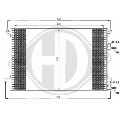 Condenseur, climatisation - Diederichs Germany - 8751401