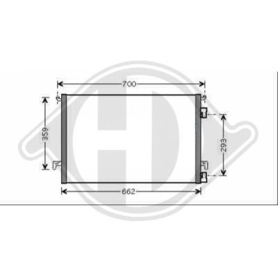 Condenseur, climatisation - Diederichs Germany - 8751402