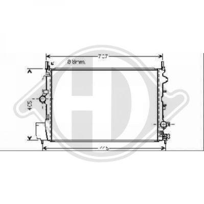 Radiateur, refroidissement du moteur - Diederichs Germany - 8751404