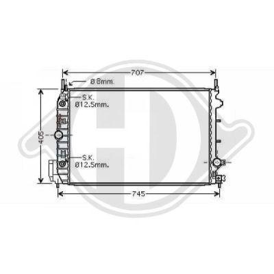 Radiateur, refroidissement du moteur - Diederichs Germany - 8751405
