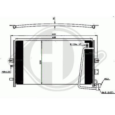 Condenseur, climatisation - Diederichs Germany - 8754000
