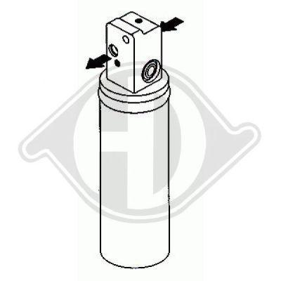Filtre déshydratant, climatisation - Diederichs Germany - 8754001