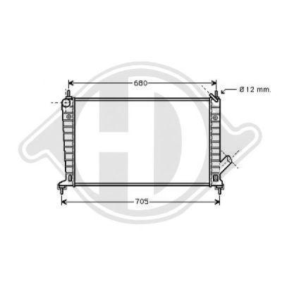 Radiateur, refroidissement du moteur - HDK-Germany - 77HDK8754002
