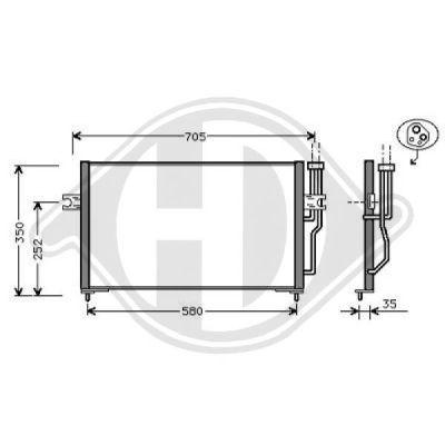 Condenseur, climatisation - Diederichs Germany - 8761300