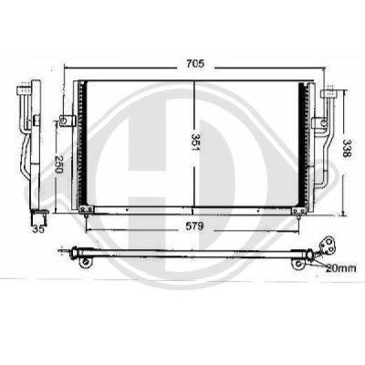Condenseur, climatisation - Diederichs Germany - 8761301