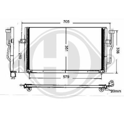 Condenseur, climatisation - HDK-Germany - 77HDK8761301