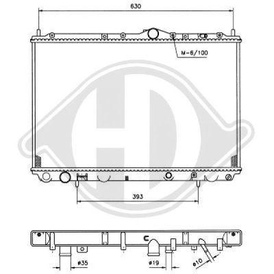 Radiateur, refroidissement du moteur - Diederichs Germany - 8761303