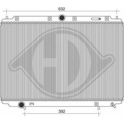 Radiateur, refroidissement du moteur - Diederichs Germany - 8761306