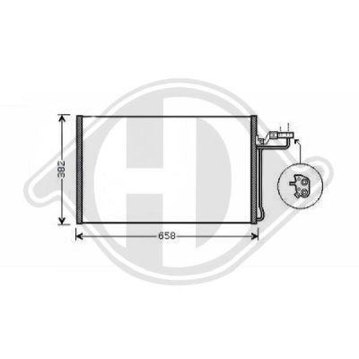 Condenseur, climatisation - Diederichs Germany - 8761400