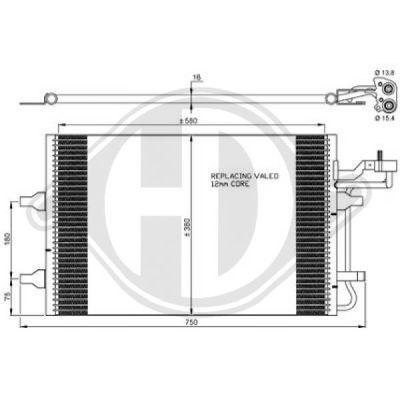 Condenseur, climatisation - Diederichs Germany - 8761401