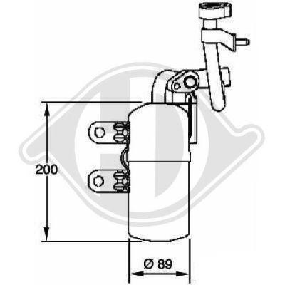 Filtre déshydratant, climatisation - Diederichs Germany - 8761402