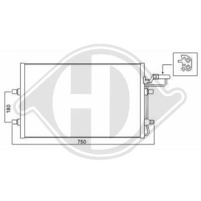 Condenseur, climatisation - Diederichs Germany - 8761405