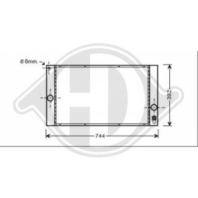 Radiateur, refroidissement du moteur - Diederichs Germany - 8761406