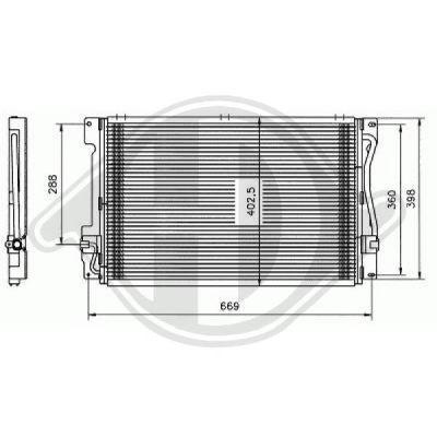 Condenseur, climatisation - Diederichs Germany - 8762100
