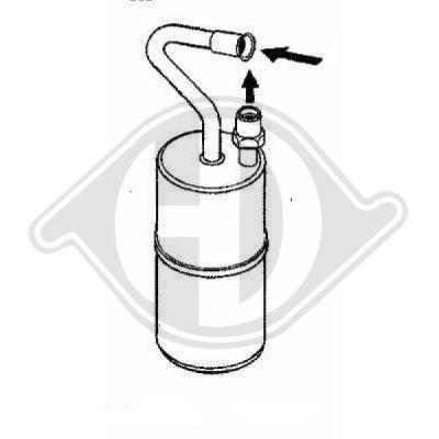 Filtre déshydratant, climatisation - Diederichs Germany - 8762101