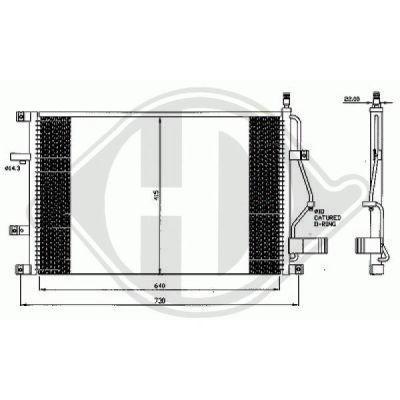 Condenseur, climatisation - Diederichs Germany - 8766000